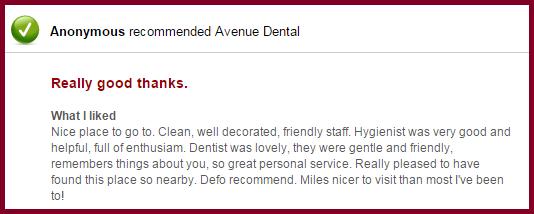 Avenue Dental London Review